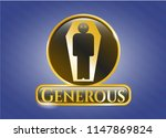 gold shiny emblem with dead... | Shutterstock .eps vector #1147869824