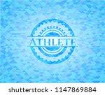 athlete realistic light blue...   Shutterstock .eps vector #1147869884