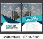 abstract vector modern flyers... | Shutterstock .eps vector #1147874204