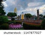 buddha statue at wat phra si...   Shutterstock . vector #1147877027