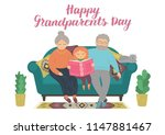 happy grandparents day. happy... | Shutterstock .eps vector #1147881467