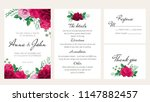 elegant floral wedding... | Shutterstock .eps vector #1147882457