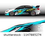 car wrap design vector  truck... | Shutterstock .eps vector #1147885274