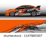 car wrap design vector  truck... | Shutterstock .eps vector #1147885307
