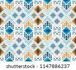 aztec style seamless geometry... | Shutterstock .eps vector #1147886237