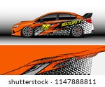 car wrap design vector  truck... | Shutterstock .eps vector #1147888811
