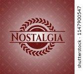 nostalgia vintage red emblem | Shutterstock .eps vector #1147900547