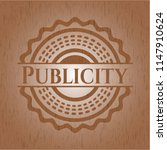 publicity badge with wood... | Shutterstock .eps vector #1147910624
