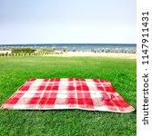 summer background of empty... | Shutterstock . vector #1147911431