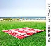 summer background of empty... | Shutterstock . vector #1147911434