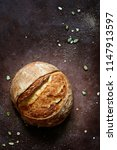 fresh homemade bread from whole ...   Shutterstock . vector #1147913597