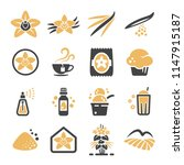 vanilla icon set | Shutterstock .eps vector #1147915187