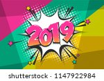 2019 happy new year christmas... | Shutterstock .eps vector #1147922984