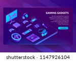 gaming gadgets vector isometric ... | Shutterstock .eps vector #1147926104