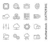computer science vector icons... | Shutterstock .eps vector #1147929341