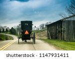 amish buggy traveling   Shutterstock . vector #1147931411