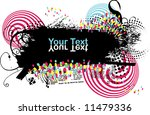 grunge layout for text   Shutterstock .eps vector #11479336