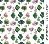 seamless pattern with spring... | Shutterstock .eps vector #1147935404