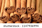 food background of dried ceylon ... | Shutterstock . vector #1147936994