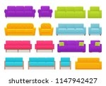 sofa  couch  armchair set.... | Shutterstock .eps vector #1147942427