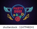 rock party neon colorful... | Shutterstock .eps vector #1147948241