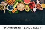 healthy food clean eating... | Shutterstock . vector #1147956614