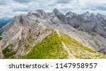 panoramic view of a climber... | Shutterstock . vector #1147958957