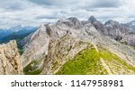 panoramic view of a climber... | Shutterstock . vector #1147958981