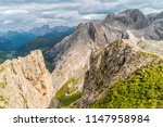 panoramic view of a climber... | Shutterstock . vector #1147958984
