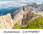 panoramic view of a climber... | Shutterstock . vector #1147958987