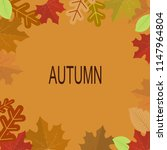 autumn background decor with... | Shutterstock .eps vector #1147964804