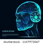 lines connected to thinkers ... | Shutterstock .eps vector #1147972067