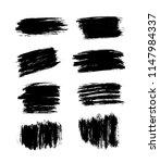 brush strokes set hand drawn... | Shutterstock .eps vector #1147984337