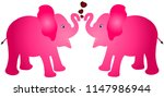 pair of pink colour elephant... | Shutterstock .eps vector #1147986944