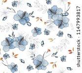 blooming  flowers. realistic... | Shutterstock .eps vector #1147993817