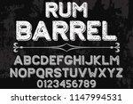 font alphabet script typeface... | Shutterstock .eps vector #1147994531