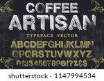 vintage font handcrafted vector ...   Shutterstock .eps vector #1147994534