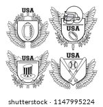 set of usa emblem | Shutterstock .eps vector #1147995224