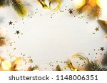 wooden holiday background ... | Shutterstock . vector #1148006351