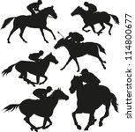 Stock vector horse race 114800677