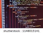 programmer developer screen.... | Shutterstock . vector #1148015141