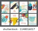 set of creative universal... | Shutterstock .eps vector #1148016017