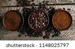 coffee assortment. closeup of... | Shutterstock . vector #1148025797