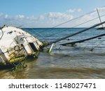 Overturned Shipwrecked Sunken...