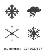 vector weather icons set.... | Shutterstock .eps vector #1148027537