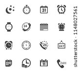 time clock icons set   alarm  ... | Shutterstock .eps vector #1148027561