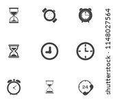 time clock icons set   alarm  ... | Shutterstock .eps vector #1148027564