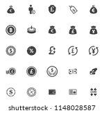 money icons  money cash icons... | Shutterstock .eps vector #1148028587