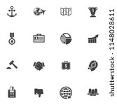 seo and online marketing icons... | Shutterstock .eps vector #1148028611