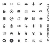 vector phone and computer icons ... | Shutterstock .eps vector #1148029181
